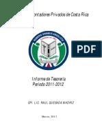 Informe Tesoreria Periodo 2012 2013
