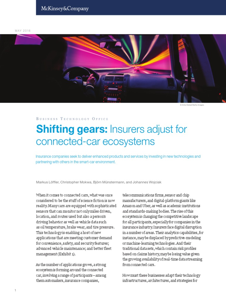 Shifting Gears Insurers Adjust for Connected Car Ecosystems