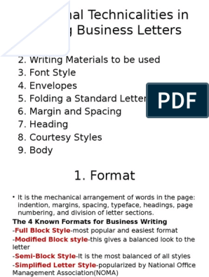 Business Letter Format Spacing from imgv2-1-f.scribdassets.com