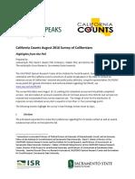 California Counts survey_highlights