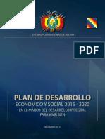 PLAN DE DESARROLLO ECONÓMICO 2016-2020