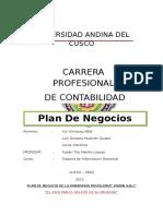 Plan de Negocios de Panaderia y Pasteleria