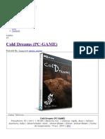 Cold Dreams (PC-GAME) - IntercambiosVirtuales