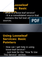 Using Looseleaf Services