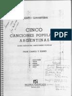 Cinco Canciones Populares Argentinas