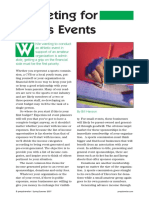 Budgeting for Sports EventsArticle