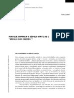 POR QUE CHAMAR O SÉCULO VINTE DE O SÉCULO DOS CHEFES.pdf
