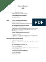 Proposta de Governo de Rogério Milagre 2016
