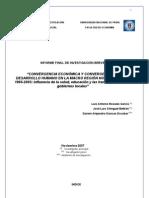 Convergencia ecónomica y convergencia en desarrollo humano en la macro región norte del Perú 1995 2005