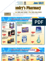 Landry's Pharmacy - June 2010 On Sale Flyer