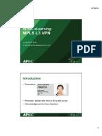 20160831 Mpls l3 VPN Handouts