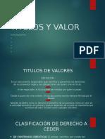 Titulos y Valor