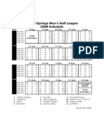 ISMGL 2008 Schedule Revised