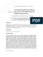A DESIGN OF DOUBLE SWASTIKA SLOT MICROSTRIP ANTENNA FOR ULTRA WIDE BAND AND WIMAX APPLICATIONS