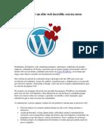 Aprende a crear un sitio web increíble con un curso WordPresseb Increíble Con Un Curso WordPress