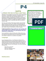 P4-Newsletter Where We Are in Place and Time