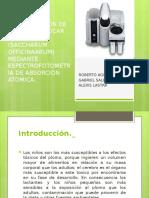 Determinación de Plomo en Azúcar de Caña (