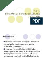 Persamaan Diferensial Biasa Orde Satu - ITB