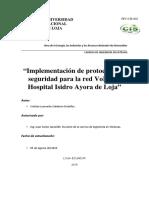 Implementación de Protocolos de Seguridad Para La Red VoIP Del Hospital Isidro Ayora de Loja