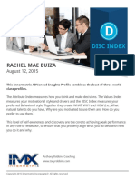 Rachel Mae Buiza's DISC Profile