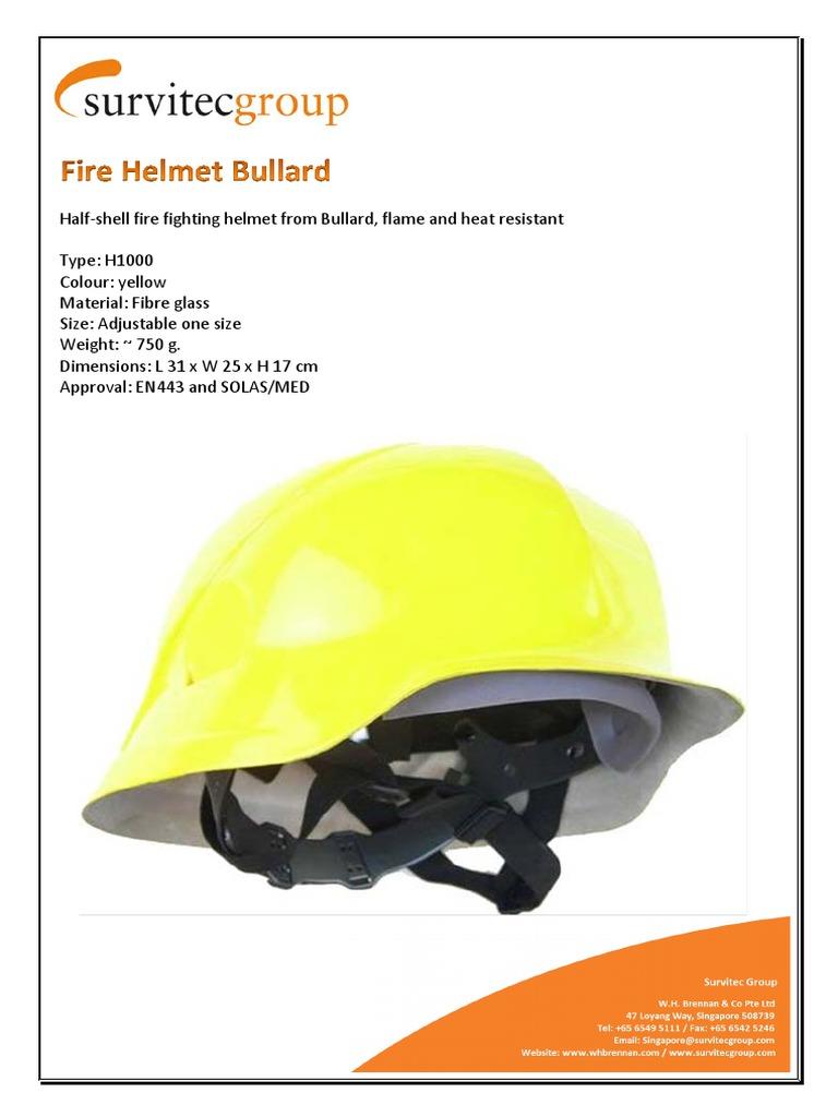Fire Helmet Bullard - H1000 | Helmet | Firefighting