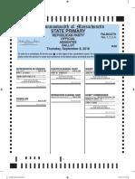 Falmouth Republican Primary Ballot Sept. 8, 2016