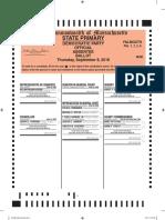 Falmouth Democratic Primary Ballot Sept. 8, 2016