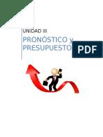 Pronóstico y Presupuestos