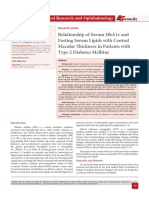 Relationship of Serum HbA1c and Fasting Serum Lipids with Central Macular Thickness in Patients with Type 2 Diabetes Mellitus