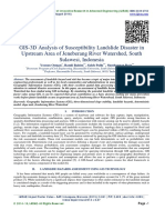 GIS-3D Analysis of Susceptibility Landslide Disaster in Upstream Area of Jeneberang River Watershed, South Sulawesi, Indonesia
