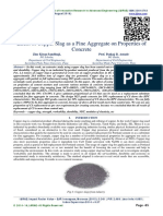 Effect of Copper Slag as a Fine Aggregate on Properties of Concrete