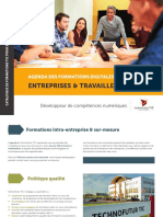 Formations professionnelles digitales & ICT à Technofutur TIC