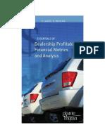 Essentials Dealership Profitability Financial Metrics Analysis 10 09
