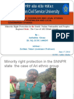Minority Right Protection in the South Nation Nationality and Peoples Regional State the Case of ARI Ethnic Group
