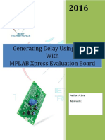 Generating delay Using timer with MPLAB Xpress Evaluation Board