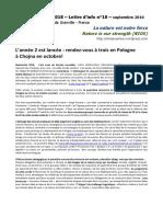 NIOS - Lettre d'info n°10 - La nature est notre force - (Erasmus+ 2015-2018)