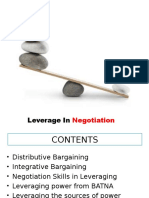 Leverage in Negotiation