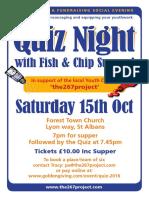 Fish and Chip Quiz Night 2016