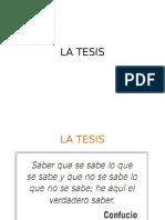 LA TESIS