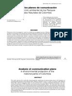 Análisis de los planes de comunicación en la protección ambiental de los Parques Nacionales Naturales de Colombia