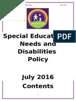 SEN Policy - July 2016
