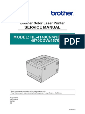 Brother - HL4140CN, 4150CDN, 4570CDW - Manual Service pdf | 64 Bit