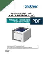 Brother - HL4040CN, 4050CDN - Parts List.pdf