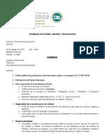 Agenda Primera Asamblea de Padres 2016