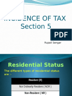 Incidence of Tax Section 5
