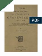 Humanistica Lovaniensia Vol. 1, 1928_LITERAE VIRORVM ERVDITORVM ad FRANCISCVM CRANEVELDIV'M 1522 — 1528.pdf