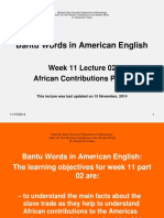 Bantu Words in American English
