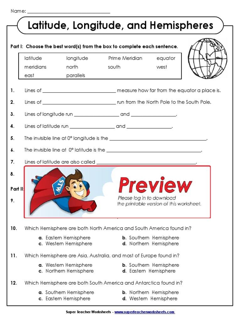 Workbooks latitude and longitude worksheets pdf : Latitude Longitude | Longitude | Sphere