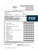 medical dosimetry program student handbook- clinical advising eval of st