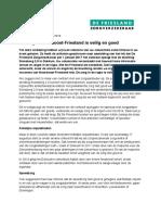 Brief Van de Friesland Zorgverzekeraar